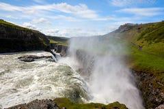 Cachoeira de Gullfoss em Islândia imagem de stock