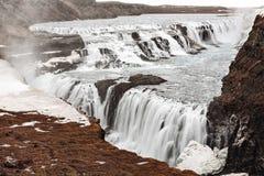 Cachoeira de Gullfoss em Islândia foto de stock royalty free