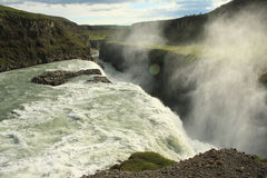 Cachoeira de Gullfoss, Islândia Imagem de Stock Royalty Free