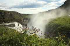 Cachoeira de Gullfoss, Islândia Foto de Stock Royalty Free