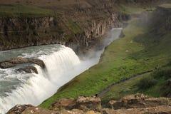 Cachoeira de Gullfoss, Islândia Imagens de Stock Royalty Free