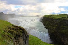 Cachoeira de Gullfoss, Isl?ndia imagens de stock