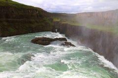 Cachoeira de Gullfoss, Isl?ndia imagem de stock