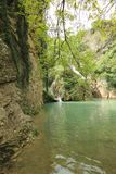 Cachoeira de Hotnitsa, área de Veliko Tarnovo Foto de Stock Royalty Free