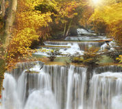 Cachoeira de Huai Mae Kamin Foto de Stock