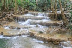 Cachoeira de Huai Mae Kamin Imagens de Stock Royalty Free