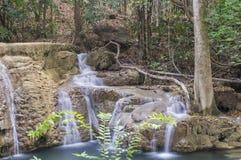 Cachoeira de Huai Mae Khamin Fotos de Stock Royalty Free