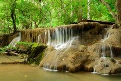 Cachoeira de Huay Mae Kamin Fotos de Stock