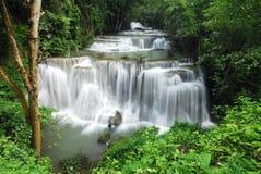 Cachoeira de Huay Mae Khamin Foto de Stock Royalty Free