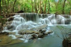 Cachoeira de Hui Mea Khamin, Kanchanabury, Tailândia Fotografia de Stock