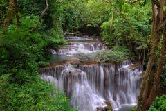 Cachoeira de Hui Mea Khamin, Kanchanabury, Tailândia foto de stock royalty free