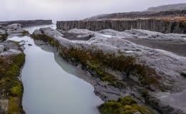 Cachoeira de Islândia - de Detifoss vista de cima de foto de stock royalty free