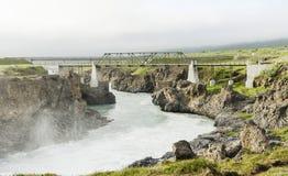 Cachoeira de Islândia no verão imagem de stock royalty free