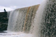 Cachoeira de Jagala em Estónia Foto de Stock Royalty Free