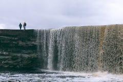 Cachoeira de Jagala em Estónia Fotos de Stock