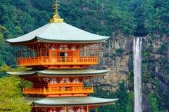 Cachoeira de Japão, de Nachi Seigantoji e de Taki o melhor marco fotos de stock royalty free