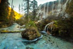 Cachoeira de Jiuzhaigou fotografia de stock