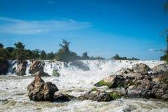 Cachoeira de Khone Phapheng, Don Khong, Loas Fotografia de Stock Royalty Free