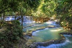 Cachoeira de Kouangxi, Luang Prabang Laos Fotos de Stock Royalty Free