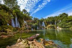 Cachoeira de Kravice em Bósnia e em Herzegovina Fotos de Stock