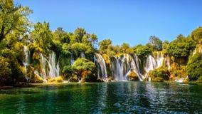 Cachoeira de Kravice no rio de Trebizat em Bósnia e em Herzegovina Imagem de Stock