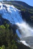 Cachoeira de Langfossen no verão Imagem de Stock Royalty Free