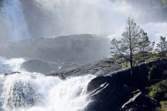 Cachoeira de Langfossen no verão Imagens de Stock Royalty Free