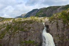 Cachoeira de Manafossen Foto de Stock