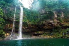 A cachoeira de Misol Ha Imagens de Stock