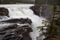 Cachoeira de Montanhas Rochosas Fotografia de Stock Royalty Free