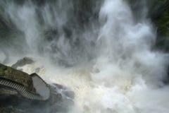 Cachoeira de Pailon Del Diablo, Equador imagens de stock