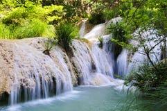 Cachoeira de Polilimnio, peloponnese, greece foto de stock