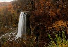 Cachoeira de queda em Covington, Virgínia das molas. Fotos de Stock Royalty Free