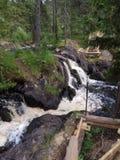 Cachoeira de Ruskeala imagens de stock