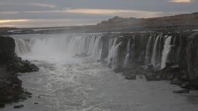Cachoeira de Selfoss video estoque