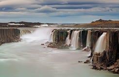 Cachoeira de Selfoss no parque nacional de Vatnajokull, Icelan do nordeste fotografia de stock