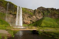 Cachoeira de Seljalandsfoss em Islândia Foto de Stock Royalty Free