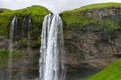 Cachoeira de Seljalandsfoss, Islândia Imagens de Stock