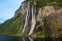 Cachoeira de sete irmãs imagens de stock royalty free