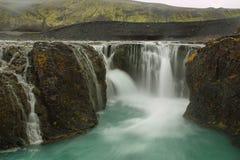 Cachoeira de Sigoldufoss Fotos de Stock Royalty Free