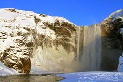 Cachoeira de Skogafoss Fotos de Stock Royalty Free