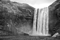 Cachoeira de Skogafoss, Islândia Fotos de Stock