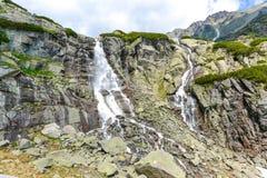 Cachoeira de Skok, Tatras alto em Eslováquia Fotos de Stock Royalty Free