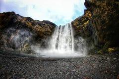 Cachoeira de Skokafoss em Islândia Foto de Stock Royalty Free