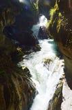 Cachoeira de Stanghe, Trentino Alto Adige, Itália Imagem de Stock