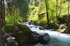 Cachoeira de Stanghe, Trentino Alto Adige, Itália Foto de Stock