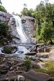 Cachoeira de Telaga Tujuh, Pulau Langkawi, Kedah, Malásia Fotos de Stock Royalty Free
