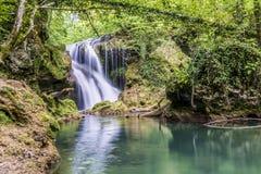 Cachoeira de Vaioaga do La, Rom?nia fotos de stock