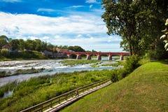 Cachoeira de Venta em Kuldiga, Letónia Foto de Stock