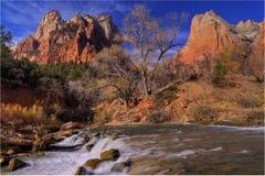 Cachoeira de Zion Fotografia de Stock Royalty Free